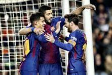 Luis Suarez Hat-trick Extends Six-goal Barcelona's La Liga Lead