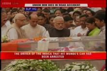 Watch: Top BJP, Opposition leaders pay homage to Gopinath Munde