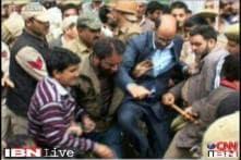 J&K: National Conference leader Nasir Aslam Wani repeatedly kicks a party worker in Ganderbal
