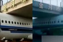 Watch: Truck Driver Gets Plane Stuck under Foot-Bridge, Leaves Netizens in Splits