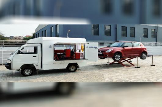 Maruti Suzuki Service On Wheels. (Image source: Matuti Suzuki)