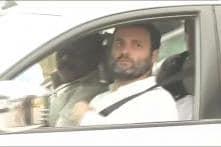 Rahul Gandhi Stops Over For Tea in Rural UP, Meets Priyanka