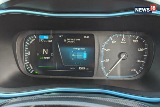 Tata Nexon EV instrument cluster. (Image courtesy: Manav Sinha/News18.com)