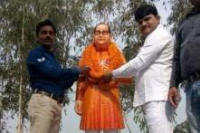 'Saffron' Ambedkar Statue Installed in Uttar Pradesh's Badaun, Opposition Cries Foul
