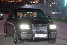 Vladimir Putin Drives Around Turkish President in His New Aurus Sedan Limo in Russia