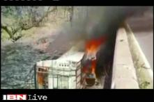 MP: 50 dead as bus fell from bridge in Panna, catches fire