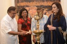 Mukesh and Nita Ambani Inaugurate Artist Sushma Jain's Solo Exhibition 'A Tale Untold'