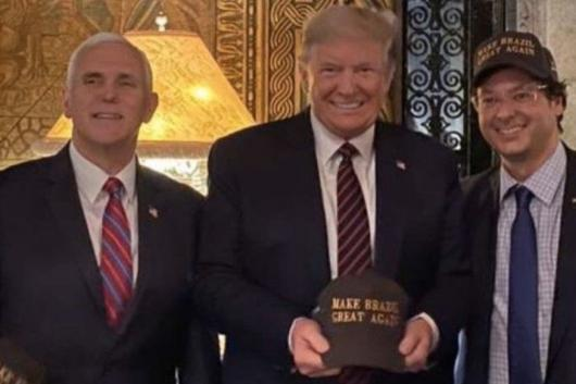 Brazilian Official Photographed With Trump and Pence Tests Positive for the Coronavirus
