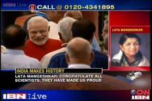 Lata Mangeshkar congratulates scientists on Mangalyaan