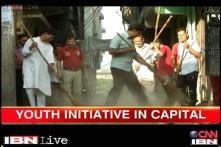 Delhi: People take the initiative to make the streets of Jamia Nagar dirt free