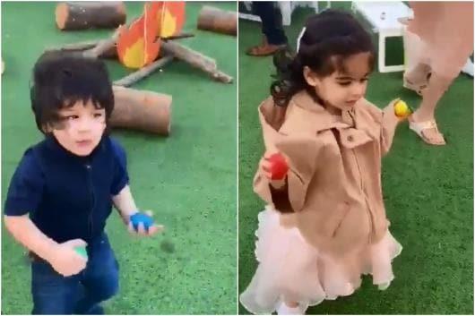 Video of Taimur, Inaaya Dancing at Yash-Roohi's Birthday Bash is Too Adorable to Miss