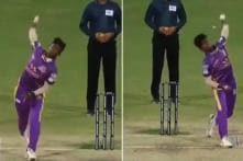 Teenage Bowler Mokit Hariharan Displays Unique Talent in TNPL