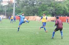 John Abraham takes on Baichung Bhutia, flaunts football skills