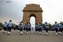 Air Warrior Symphony Orchestra and Drill Team perform at India Gate