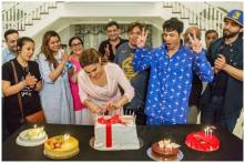Sara Ali Khan Celebrates Birthday with Mother Amrita Singh and Team of Coolie No 1