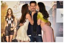 Ananya Panday, Tara Sutaria Kiss Tiger Shroff at 'Student of the Year 2' Trailer Launch, See Pics