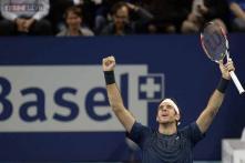 Del Potro beats Federer in Swiss Indoors final