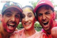 Snapshot: Hrithik Roshan spends Holi with kids, Zayed and Farah Ali Khan