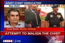Leaking letter an attempt to malign the Army Chief: Vinod Mehta