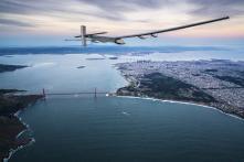 Sun-Powered Solar Impulse 2 Aircraft Reaches Statue of Liberty