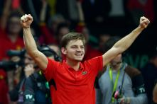 David Goffin fights back to give Belgium lead in Davis Cup final