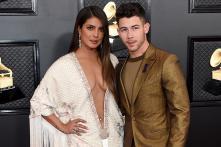 Priyanka Chopra & Nick Jonas Shine at Grammys Red Carpet