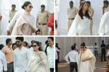 Sridevi's Funeral: Aishwarya Rai Bachchan, Deepika Padukone & Shahid-Mira Pay Their Last Respects