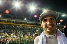 Carlos Sainz Jr. fastest in wet 1st practice at Japanese GP