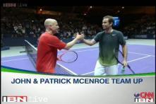 Tennis legends rekindle old rivalries