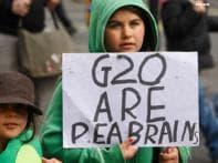 Watch: Anti-G20 protestors vandalise Bank of England