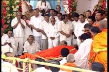 In Pics: Last rites of Sathya Sai Baba