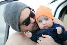 Photos: Veena Malik, Asad Bashir dote on their son Abram Khan during a family outing