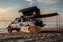 Nissan Unveils Titan Surfcamp Concept Lifestyle Pickup Truck - A Beach Bungalow on Wheels [Video]