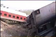 4 killed, 8 injured as Rajdhani derails in Chhapra; sabotage suspected