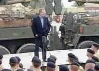 Blair hints at troop withdrawal