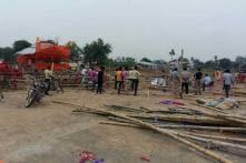 Rain Plays Spoilsport, Tent Made For Yogi's Rally Damaged