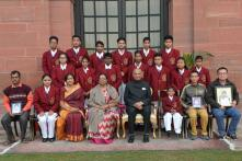 In Pics: President Kovind Meets 18 National Bravery Award Winners