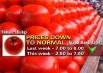 Good news: veg prices stabilise