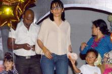 Snapshot: Different look! Manyata Dutt shows off her new bangs at Shilpa Shetty's son Viaan's birthday bash