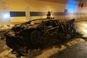 Modified Lamborghini Aventador Worth Rs 17.7 Crore Burns Down to Unrecognizable Wreck -  Watch Video
