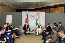 PM Modi Meets UK Counterpart Boris Johnson in France on Sidelines of G7 Summit