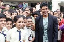 Snaphot: Farhan Akhtar takes 'Bhaag Milkha Bhaag' to his alma mater