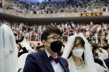 Sanitizer, Masks, Checking Body Temperature: Inside South Korean Mass Wedding Amid Coronavirus Fears