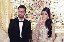 Snapshot: Atif Aslam and Sara Bharwana at their Walima