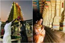 Kangana Ranaut Seeks Blessings at Rameshwaram Temple in Tamil Nadu, See Pics
