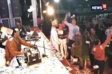 Cash Showered On Groom During 'Bhajan' Program At Wedding Ceremony