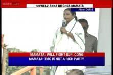 Anna skips Delhi rally, angry Mamata says I left my work to come here
