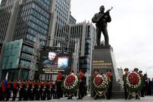 Russia Unveils Monument of AK-47 Rifle Designer Mikhail Kalashnikov