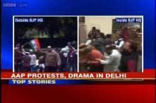 A Billion Votes: AAP targets BJP HQ; clashes in Delhi, UP, Gujarat