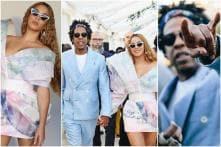 Beyoncé & Jay-Z Stun in Pastel Outfits at Pre-Grammys Brunch